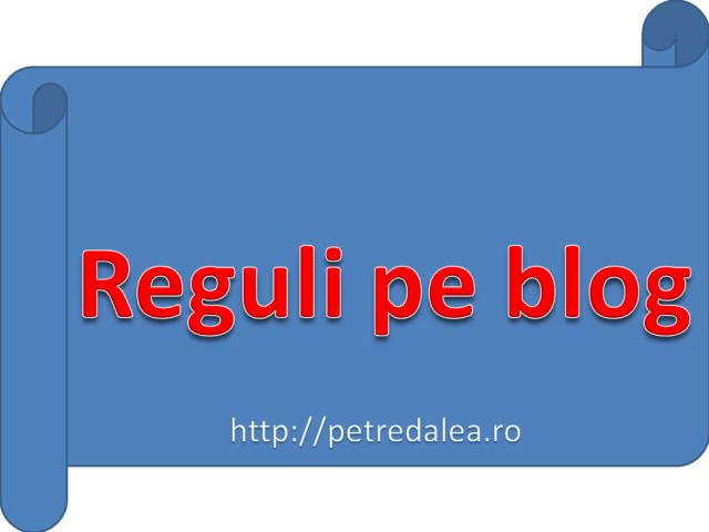 Reguli pe blog