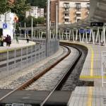 Gara Reşiţa Sud - linia 1 şi peron