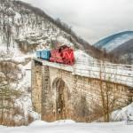 Anina - tren pe viaductul Schlucht