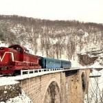 Anina - Oravita iarna-tren