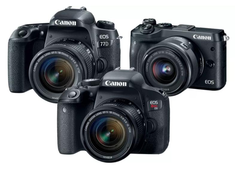 Canon T7i (EOS 800D), Canon 77D si Canon 6M