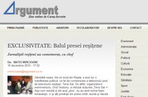 Balul presei resitene 2012
